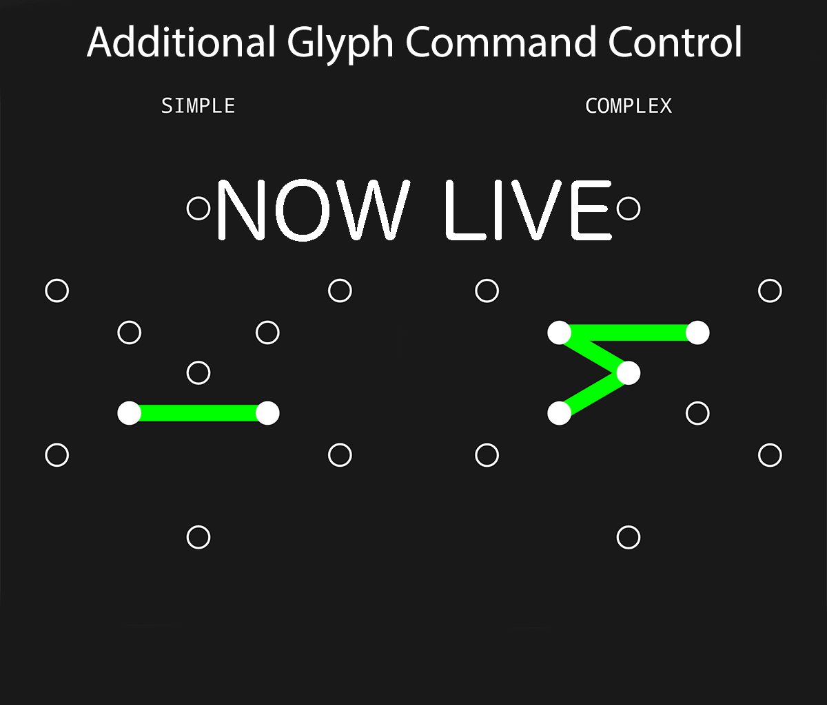 Breaking News - Simple/Complex Glyphs are Live again!   Fev Games