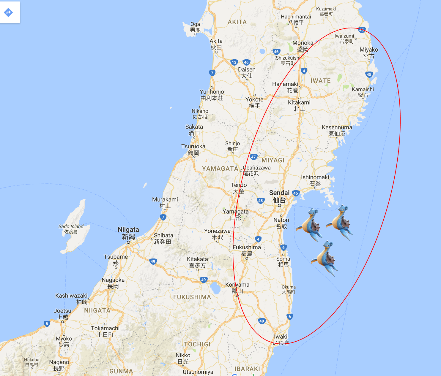 Pokémon GO Lapras Event In Japan Fev Games - Japan map pokemon go
