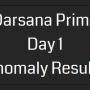 Darsana Prime Day 1 Anomaly Results