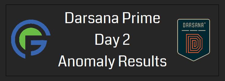 Darsana Prime Day 2 Anomaly Results